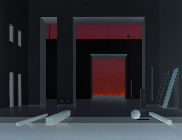 , 'Raum 1384, Nacht,' 2017, Galerie Nikolaus Ruzicska