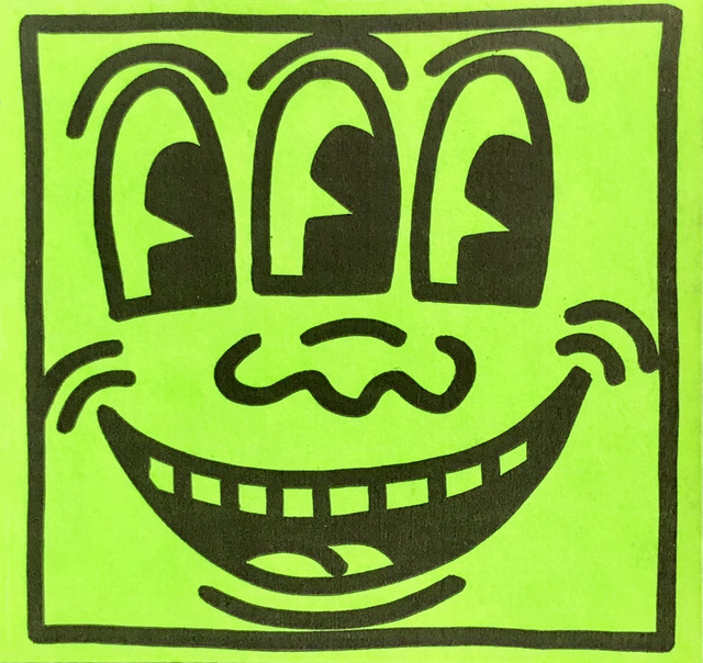 Keith Haring, 'Original Keith Haring Three Eyed Smiling Face sticker circa early 80s', ca. 1982, Lot 180