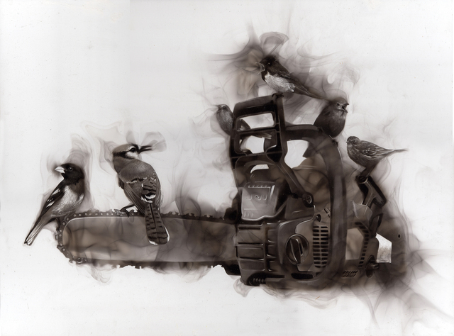 Steven Spazuk, 'Activistes', 2020, Painting, Soot from fire on gessoed panel, Adelson Galleries