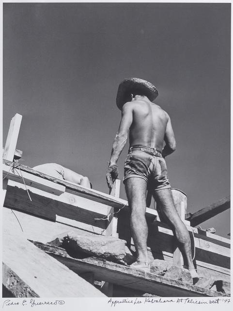 Pedro E. Guerrero, 'Apprentice Lee Kawahara, Taliesin West, Scottsdale, AZ', 1947, Edward Cella Art and Architecture