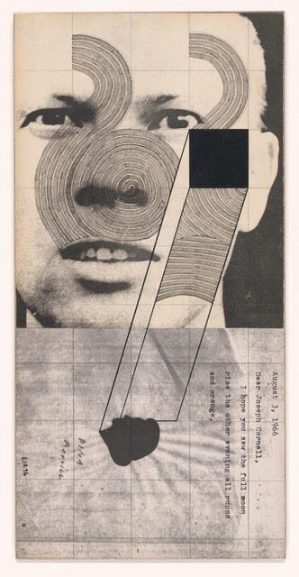 Ray Johnson, 'Untitled (Ray Johnson with Dina Merrill)', 1967/1974/1976, San Francisco Museum of Modern Art (SFMOMA)