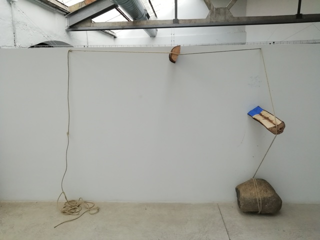 , 'Divided (in tension and a moment of air),' 2018, Galeria Carles Taché