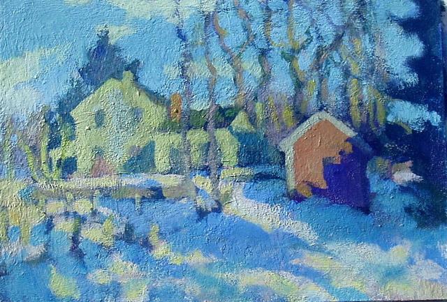 Don Wynn, 'Our House in Cambridge', 2021, Painting, Acrylic, Keene Arts