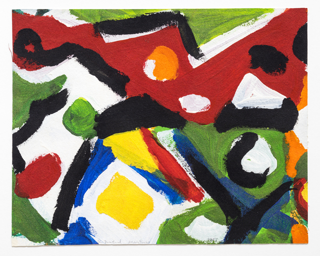 Kim MacConnel, 'Untitled', 1988, Painting, Cotton flocking and acrylic on paper, framed, Rosamund Felsen Gallery