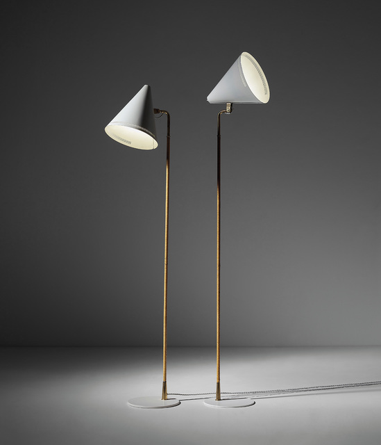 Paavo Tynell, 'Two standard lamps, model nos. 9627, K 10-10', 1950s, Phillips