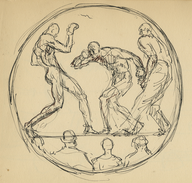 , 'A Round of Boxing,' 1929, Anthony's Fine Art