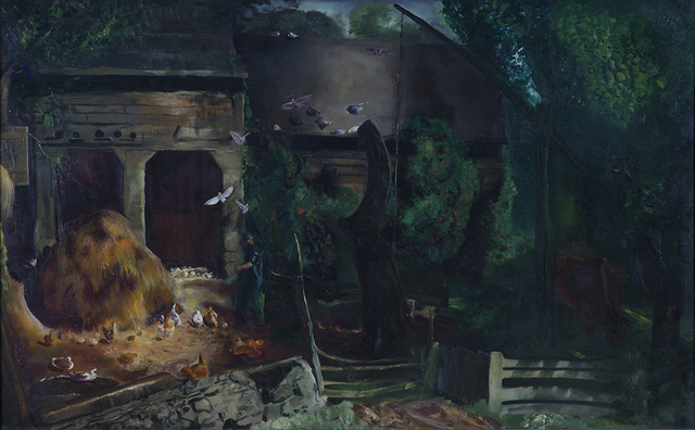 , 'The Old Farmyard, Toodleums,' 1922, Montclair Art Museum