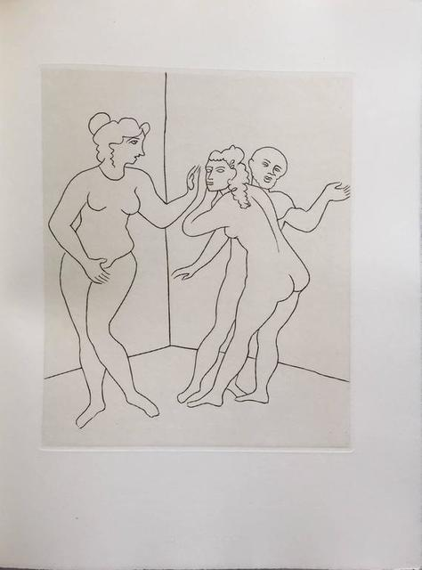 André Derain, 'Female Nude Erotic Etching from Le Satyricon', 20th Century, Lions Gallery