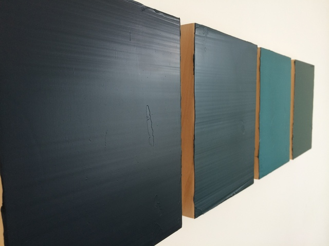 David Hirschi, 'Four Souldiers (Four parts)', 2013, Painting, Oil on wood panel, inde/jacobs