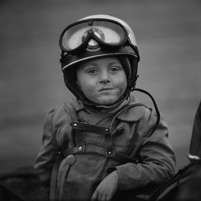, 'Junge mit Motorradhelm,' 1962, CAMERA WORK