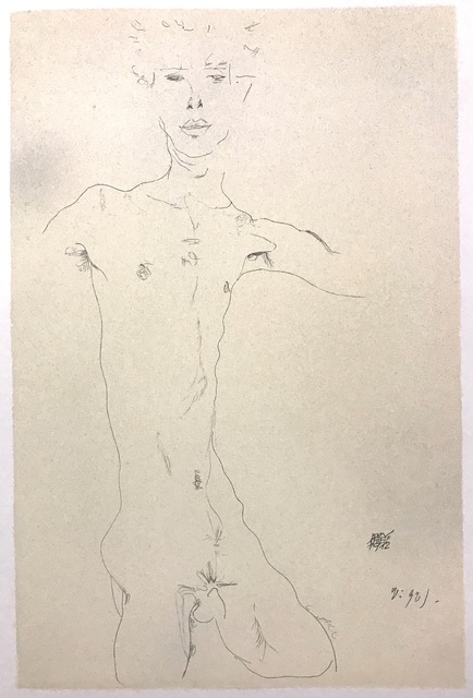 , 'Standing Male Nude,' 2007, Wallector