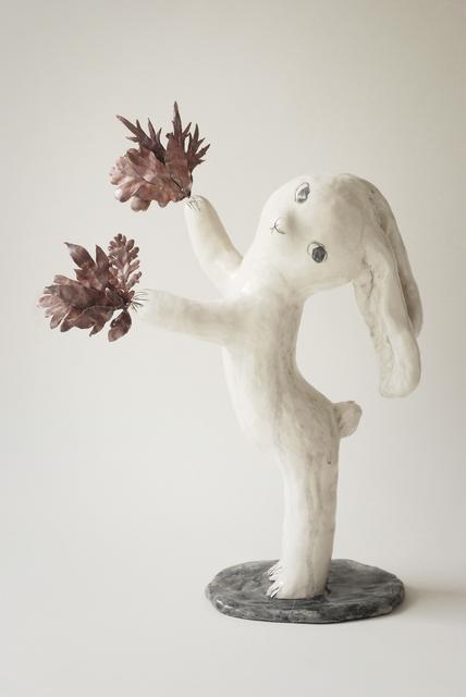 , 'Rabbit with leaves,' 2019, Antonine Catzéflis