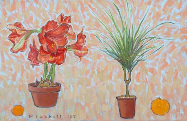 Joseph Plaskett, 'Amaryllis, Palm, Clementine & Orange', Bau-Xi Gallery