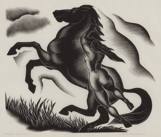 , 'Black Stallion,' 1940, Childs Gallery