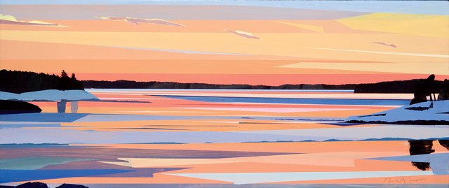 , 'Winter Sunset on the Kennebec,' 2014, Dowling Walsh