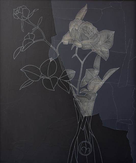 Derrick Greaves, 'Rose, Black and White', 1982, Sylvester Fine Art