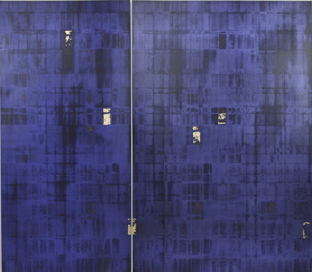 , 'Faded Memory Blue & Gold ,' 2014, Contemporary by Angela Li