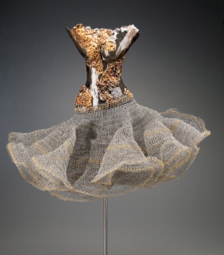 , 'Female Torso, Clay with Gold and Wire Mesh,' , CODA Gallery
