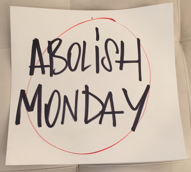 , 'Abolish Monday,' 2015, Galleria Ca' d'Oro