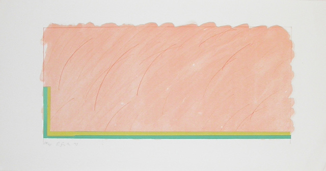 , 'Horizon V (peach, yellow and green),' 1970, Bernard Jacobson Gallery