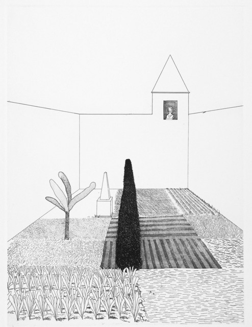 David Hockney, 'Rapunzel Growing in the Garden', 1969, Goldmark Gallery