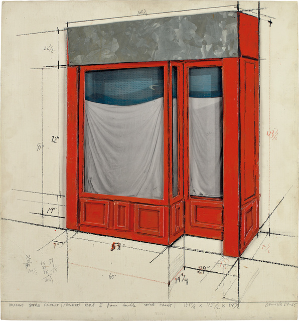 Christo, 'Orange Store Front (Project) Part I', 1964-1965, Phillips