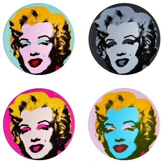 , 'Set of 4 plates (Marilyn),' , Artsnap