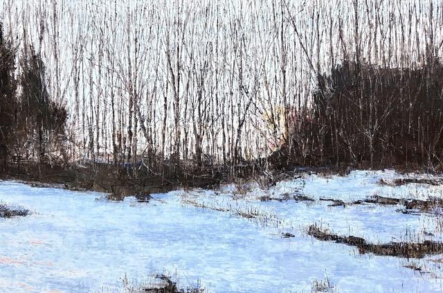 Christopher Charlebois, 'Edge of Field - Winter Dusk', 2018, Kurbatoff Gallery