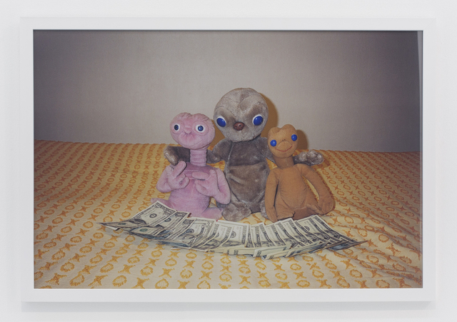 , '3 E.T.s on bed,' 2001, The Hole