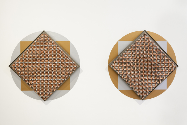 , 'Sonic Rotating Geometries Type F – Copper and Nickel Plated #58,' 2015, dépendance