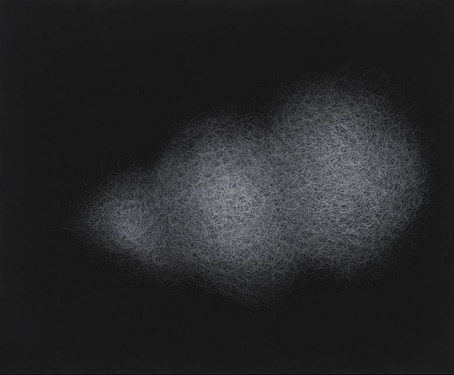 Sang-sun Bae, 'Cloud 1', 2014, Painting, Gesso on velvet, Gallery LEE & BAE