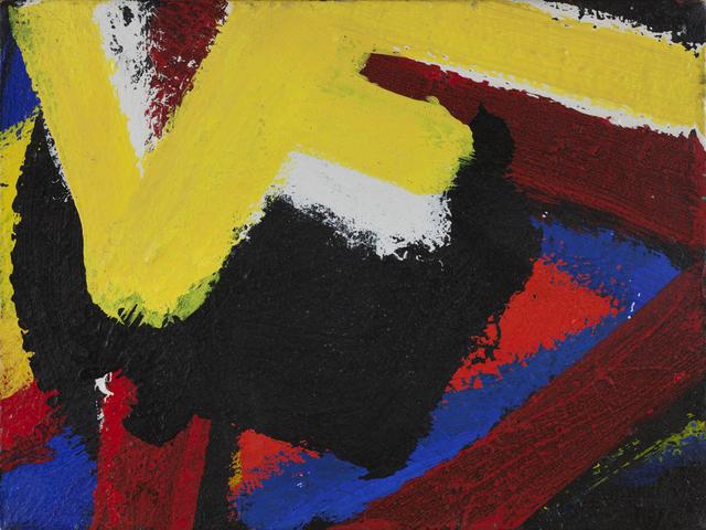 ", 'Untitled ""U"",' 1959, Al Held Foundation"