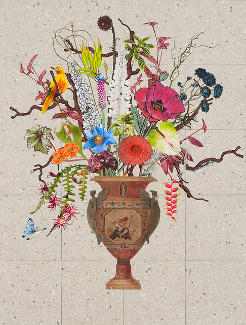 , 'Spanish Vase with Thistle, Angelica and Lupine,' 2016, Lyndsey Ingram