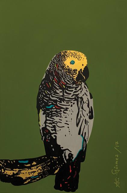 , 'Parrot in green,' 2017, Peritechnon Karteris