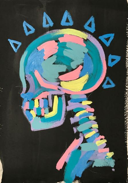 , 'Skull Spikes,' 2016, Maddox Gallery