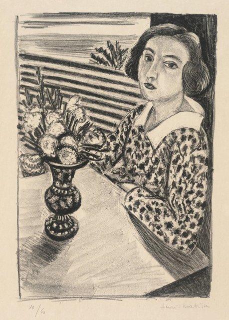 , 'Jeune Fille Assise au Bouquet de Fleurs,' 1923, Galerie Maximillian
