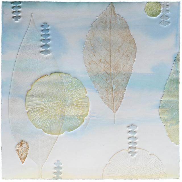 Katherine Warinner, 'Leaves 4', 2019, Print, Relief monotype, Kala Art Institute