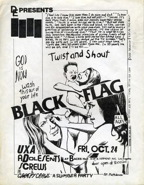 Raymond Pettibon, 'Raymond Pettibon, Black Flag', 1981, Lot 180