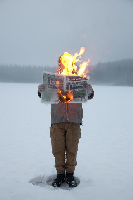 , 'Burning News,' 2012, Glaz Gallery