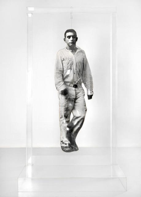Dario Villalba, 'Preso andando', 1974-1991, Sculpture, Aluminium sheet, methacrylate, canvas and photographic emulsion., Luis Adelantado Valencia