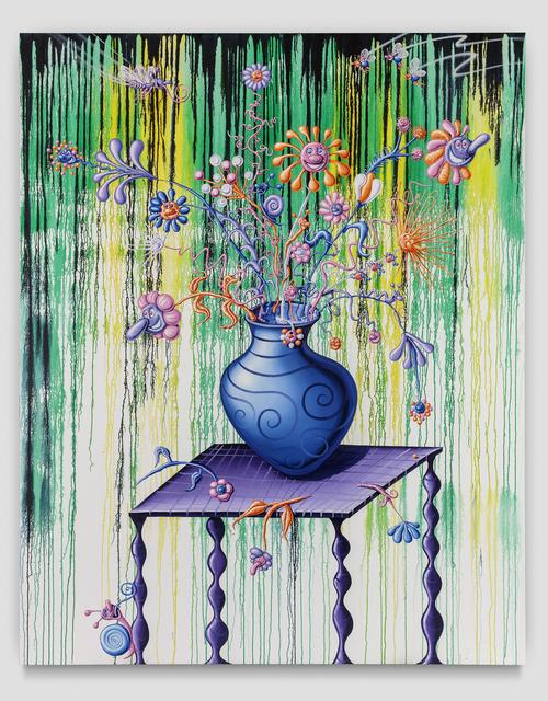 Kenny Scharf, 'Fleurs et Vase Sur la Table', 2019, Honor Fraser