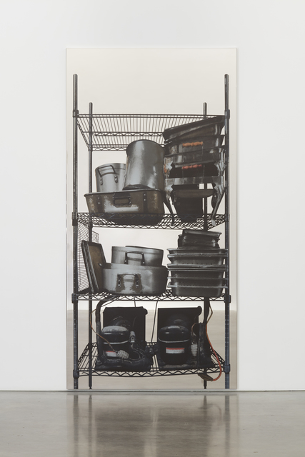 , 'Scaffali - contenitori metallici e motori (Shelves – metal containers and motors),' 2015, Simon Lee Gallery