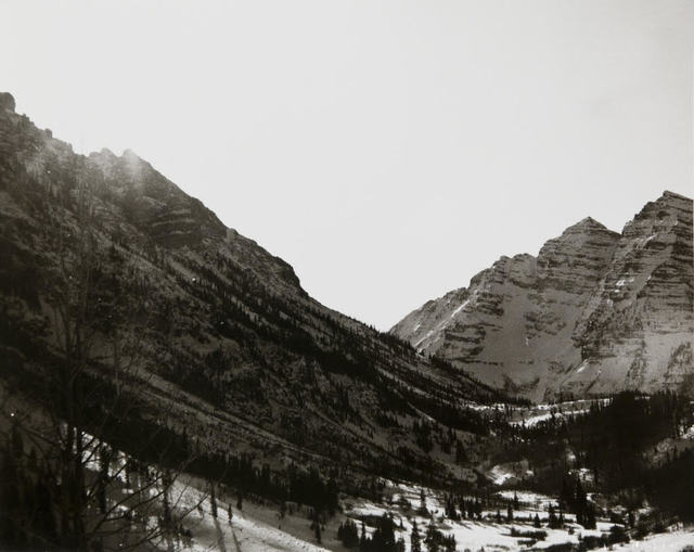 Andy Warhol, 'Andy Warhol, Photograph of Mountains in Aspen, 1980s', 1980s, Photography, Silver gelatin print, Hedges Projects