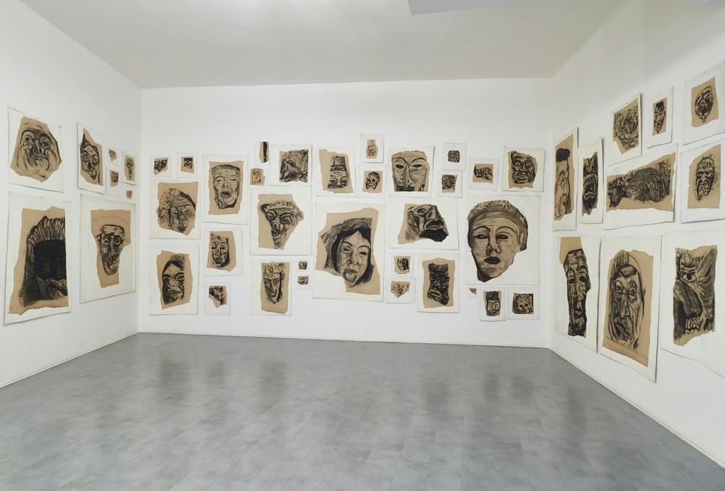 Piero Manai  Autoritratto con maschera, 1899 – 1980 Carbone su carta intelata – 56 opere di varie dimensioni