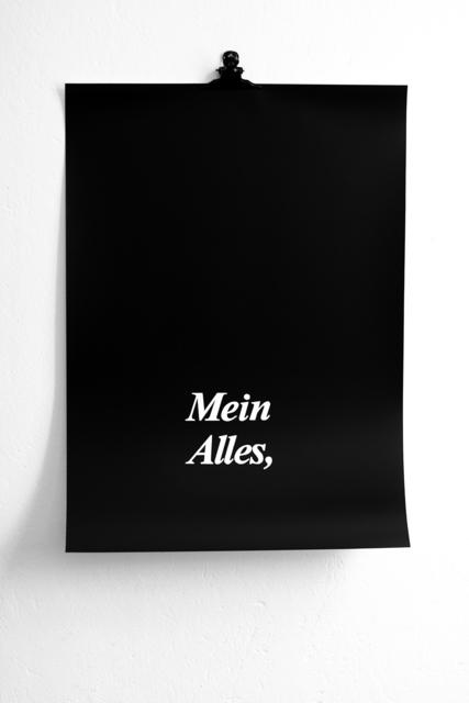 , ''Mein Alles' ('Mio tutto'),' 2013, METRONOM