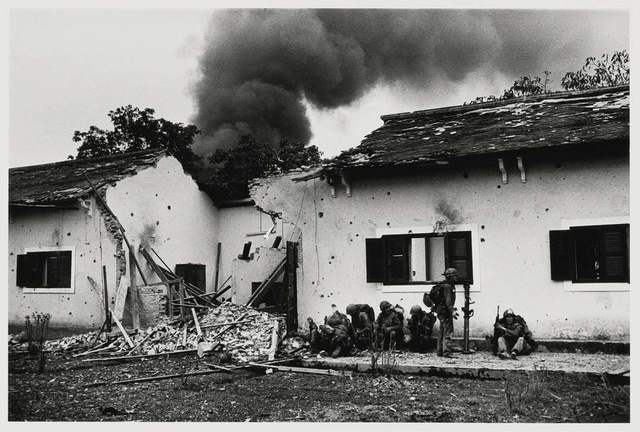 Don McCullin, 'Marine Injured in Front of a School Building, Hue, Vietnam', 1968, Hamiltons Gallery
