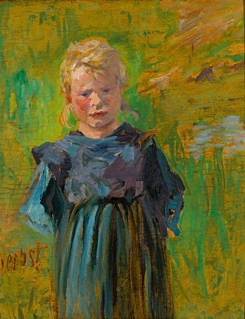 , 'Bauernmädchen,' ca. 1895, Galerie Herold