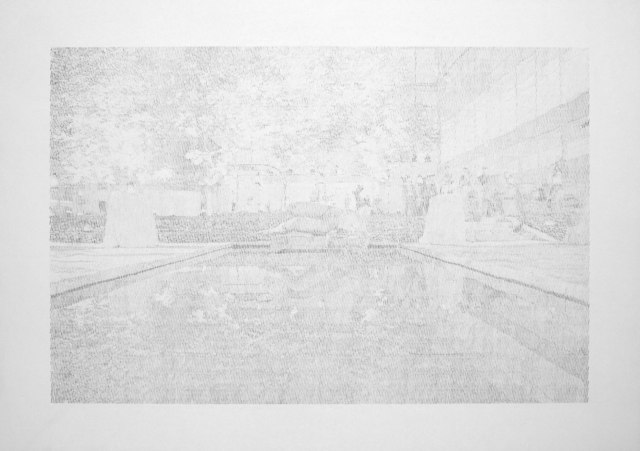 Ewan Gibbs, 'MoMA Sculpture Garden, New York', 2009, Drawing, Collage or other Work on Paper, Pencil on paper, Richard Gray Gallery