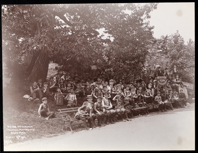 Jacob A. Riis, 'Public School 105 in Manhattan at the vacation playgrounds in Bronx-Park. August 19th, 1902', 1902, Photography, Gelatin silver print, Museum of the City of New York