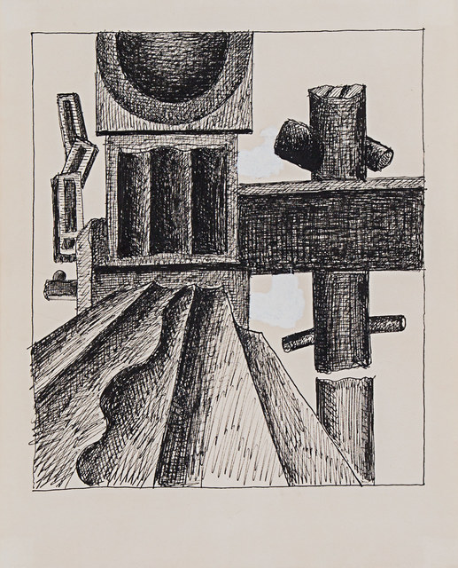 , 'Composition (with machine parts),' ca. 1930, Rosenberg & Co.
